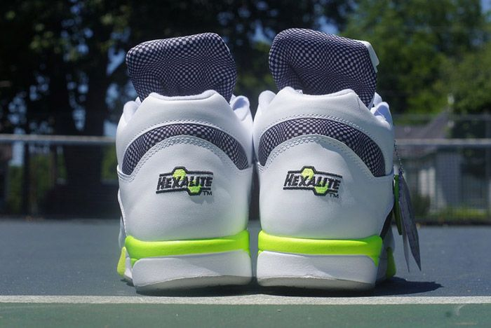 Reebok Court Victory Pump White Black Solar Yellow 5