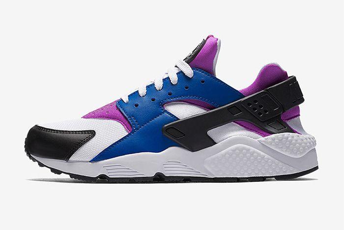 Nike Air Huarache Blue Jay White Hyper Violet Black Thumb