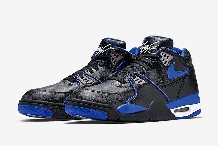 Nike Air Flight 89 Black Royal Blue 819665 001 Front Angle