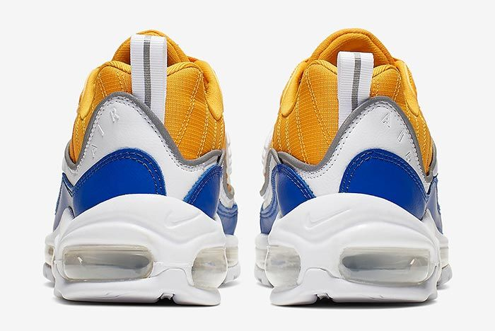 Nike Air Max 98 Yellow White Blue At6640 700 Heels