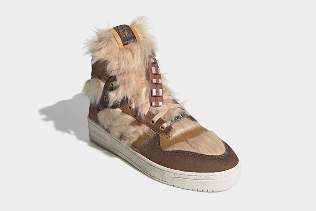 adidas x Star Wars Rivalry Hi Chewbacca Angled