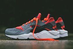 Nike Huarache Cool Grey Bright Crimson Thumb