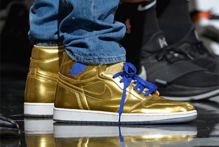 Kawhi Leonard Air Jordan 1 Gold Sneaker Freaker