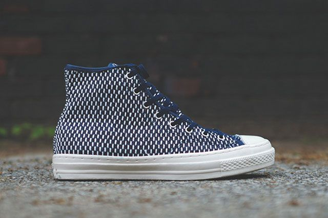 Converse Chuck Taylor All Star Hi Premium Knit Nvy Wht Sideview