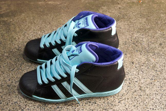 Adidas Superstar Black Blue Pro Model 1