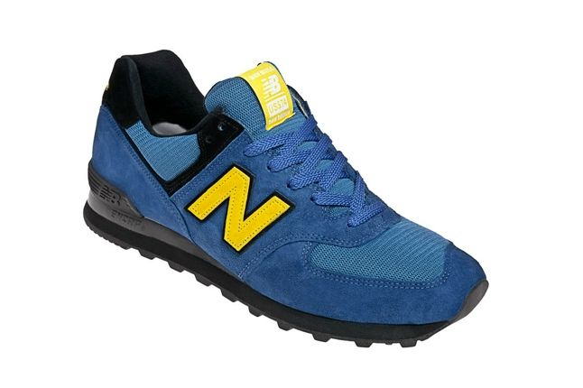 New Balance Race Inspired 574 Blue And Yellow Angle 1