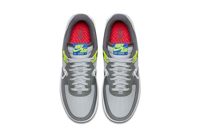 Nike Air Force 1 React Grey Heel Top