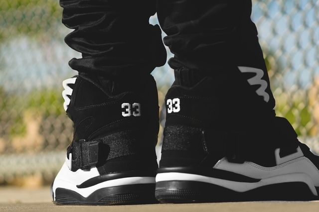 Ewing Athletics Concept Black White On Feet