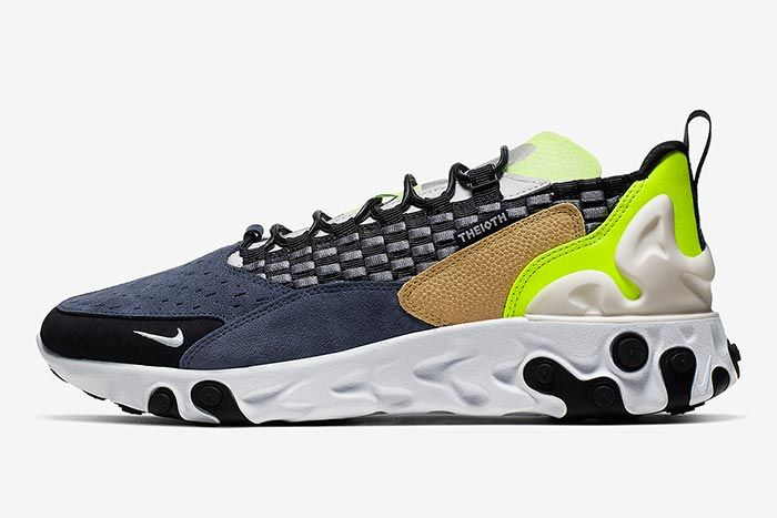 Nike Sertu React Black Volt Left Side Shot