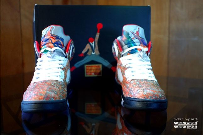Air Jordan 5 Rocket Boy Nift Custom Front On 1