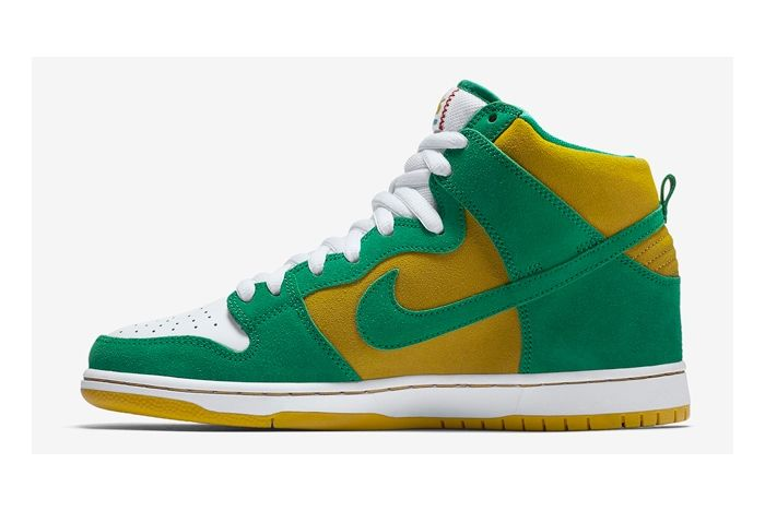 Nike Sb Dunk High Oakland A 3