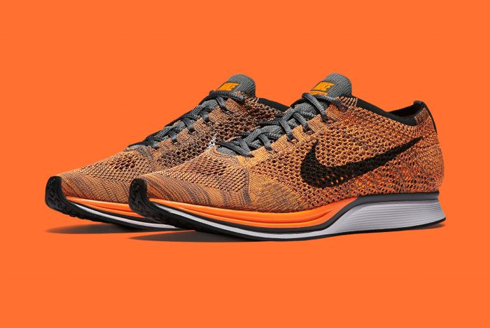 Nike Flyknit Racer Orange 4