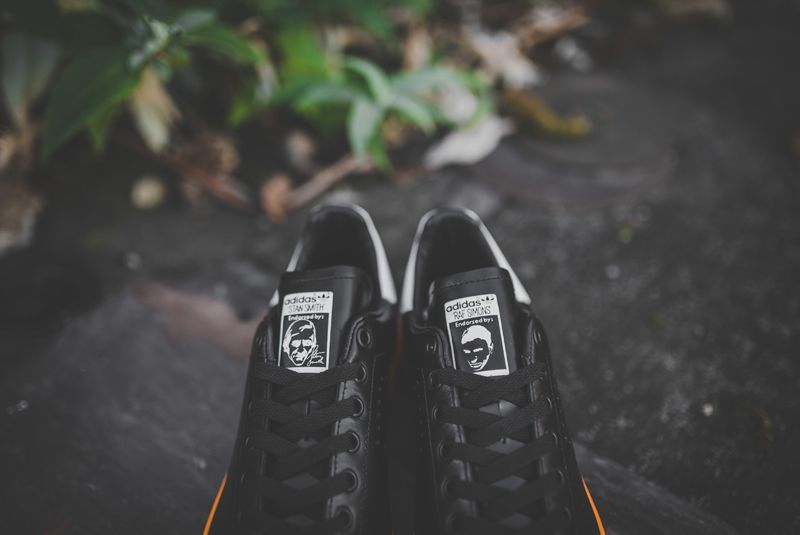 Raf Simons X Adidas Stan Smith Black Bright Orange