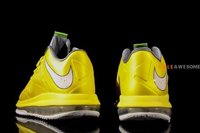 Nike Lebron X Low Sonic Yellow Heel Profile 1