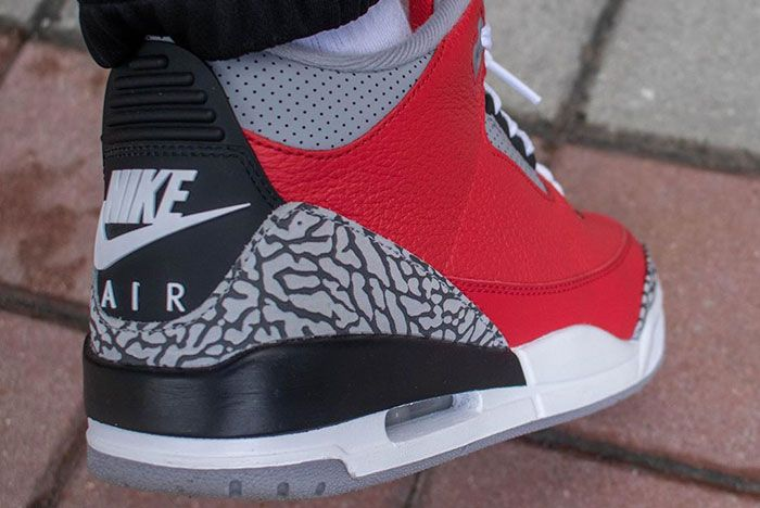 Air Jordan 3 Cement Red Fire Red All Star On Foot3