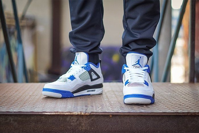 Air Jordan 4 Motorsport On Foot 4