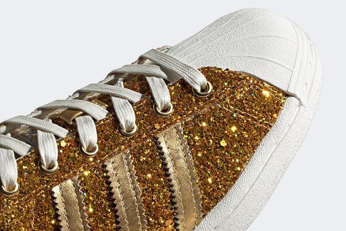 Adidas Superstar Gold Metallic Fw8168 Toe Detail