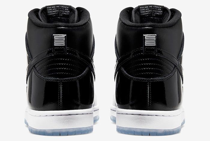 Nike Sb Dunk High Space Jam Bq6826 002 Release Date 5 Heel