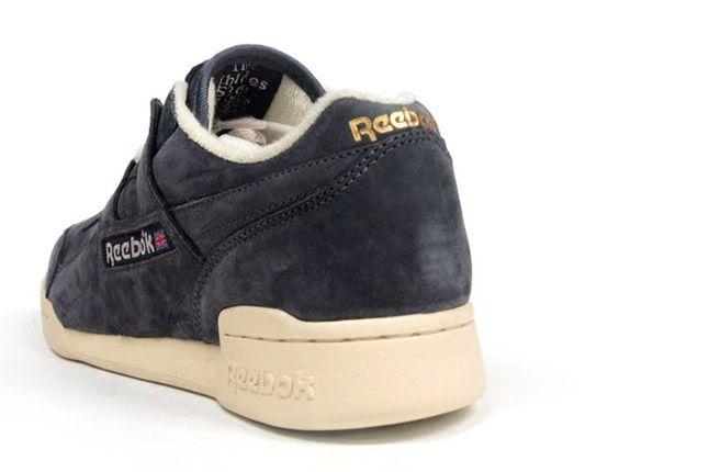 Reebok Workout Plus Vintage Grey Heel 1