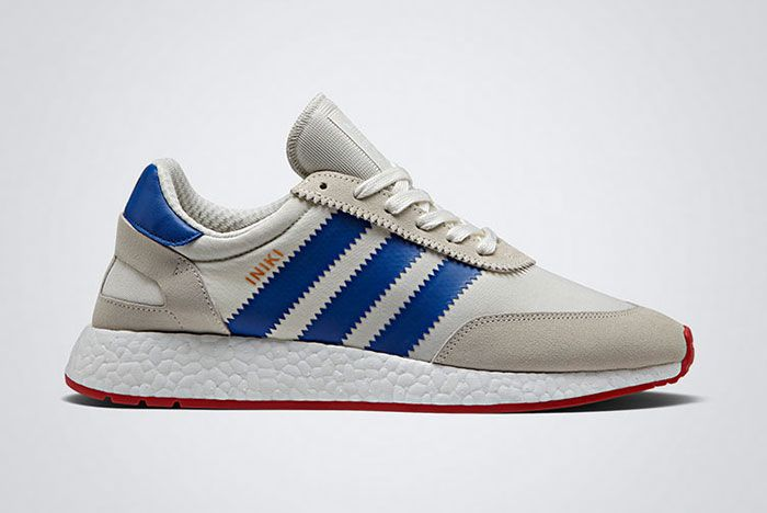 Adidas Iniki Runner Boost White Red Blue Thumb