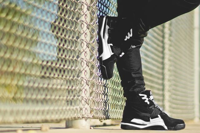 Ewing Athletics Concept Black White On Feet 4