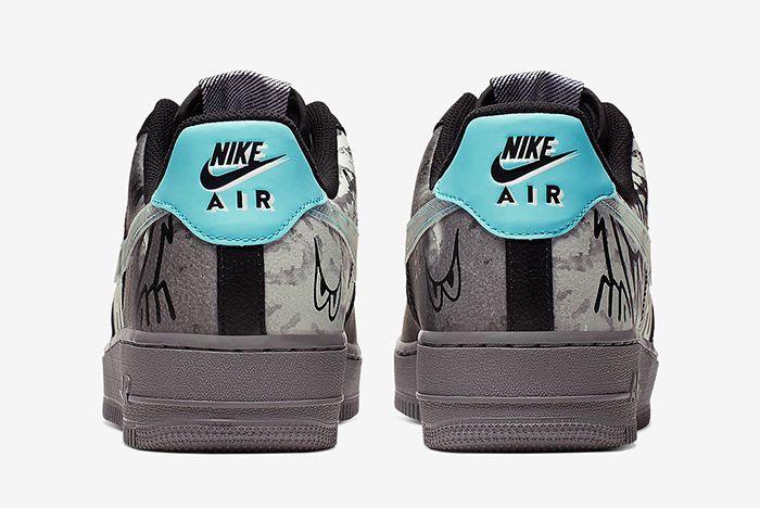 Nike Air Force 1 Graffiti Heel Shot