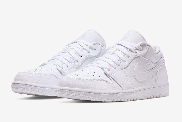 Air Jordan 1 Low Triple White 553558 112 Front Angle