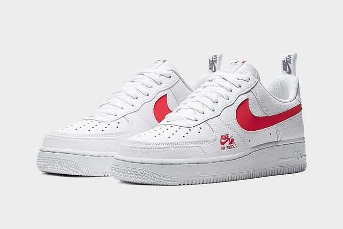 Nike Air Force 1 Lv8 Utility White Red Pair