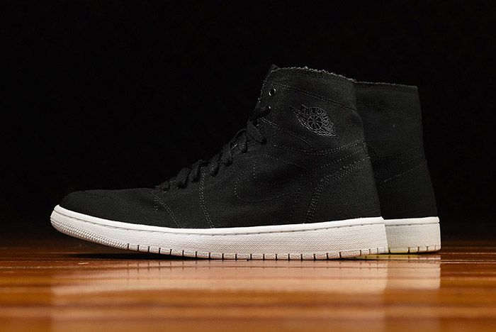 Air Jordan 1 High Deconstructed Black Canvas 1