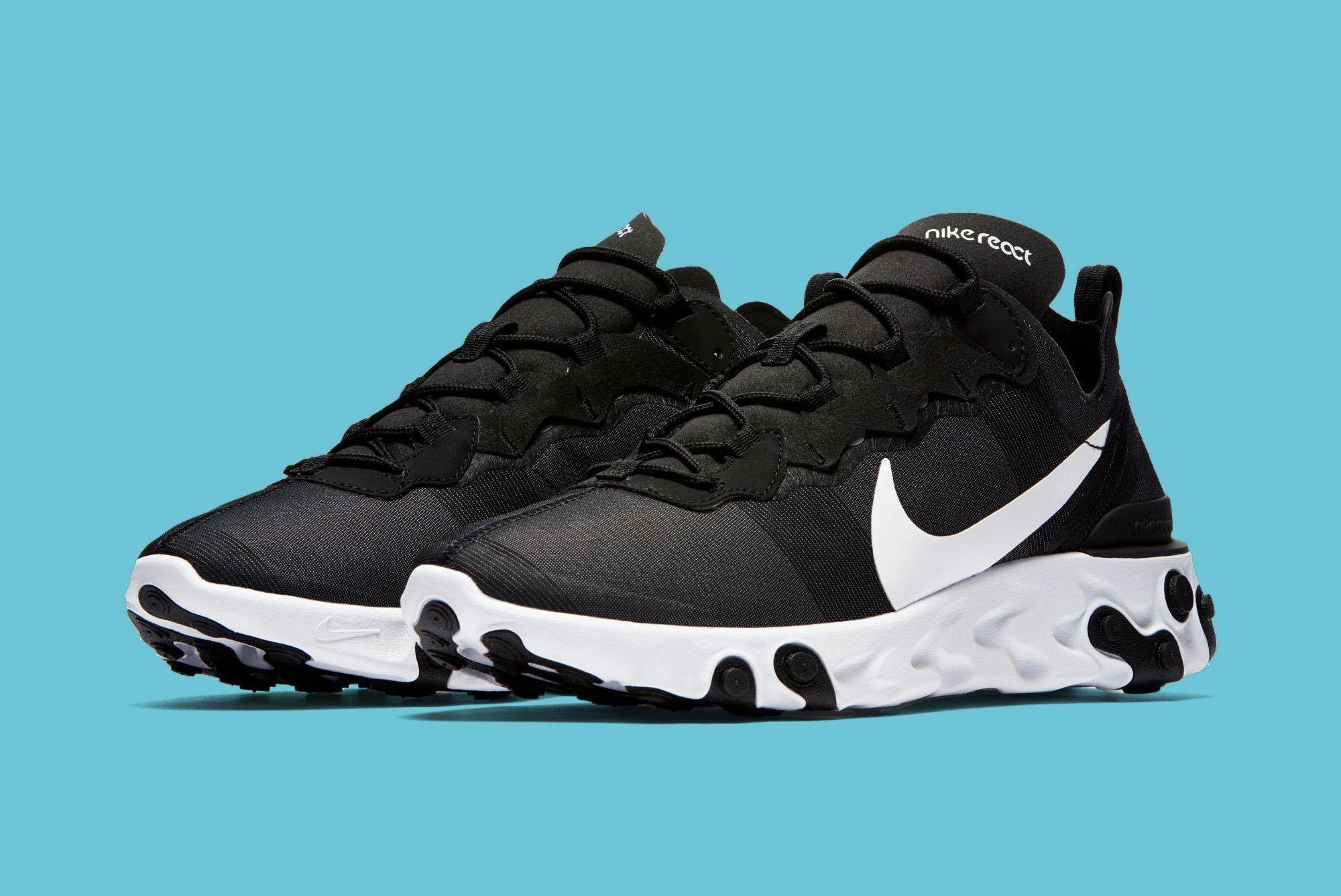 Nike Element React Black White 1
