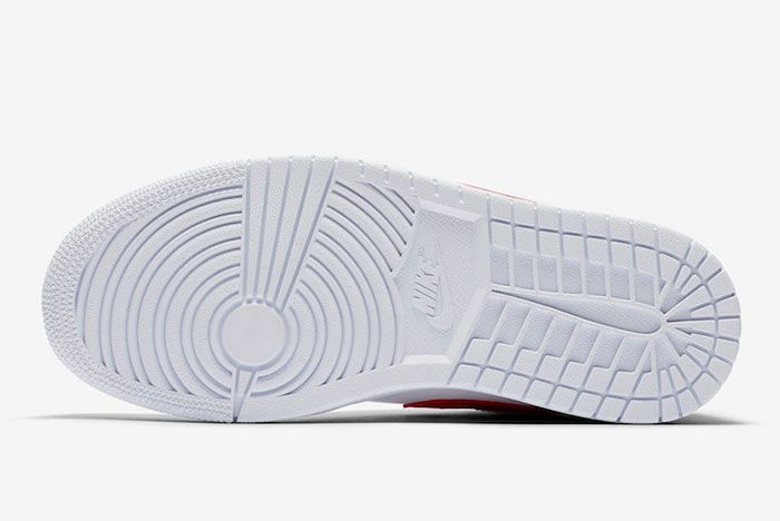 Air Jordan 1 Low White University Red Ao9944 161 Sole