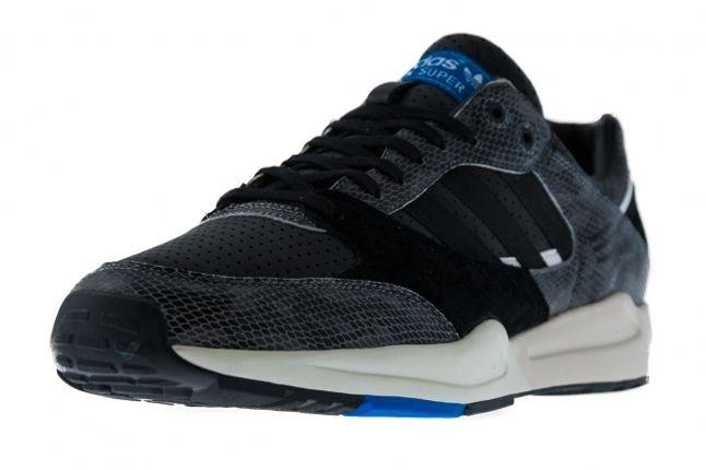 Adidas Tech Super Snakeskin Pack Black Detail Angle 1