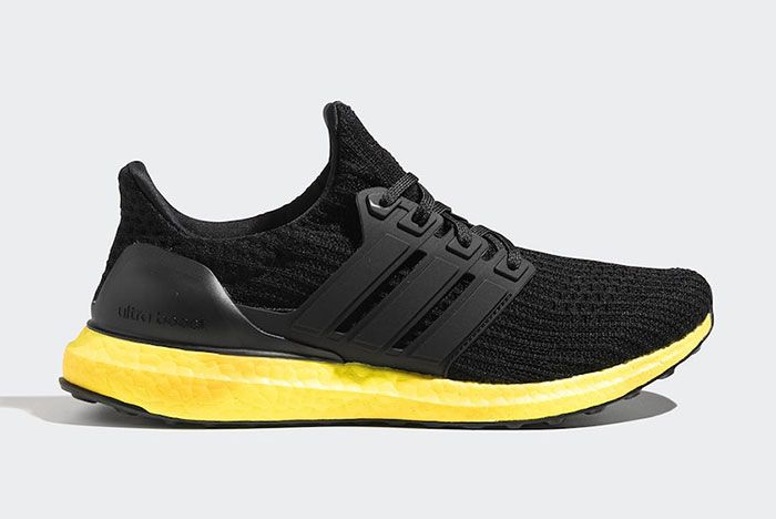 Adidas Ultra Boost Black Yellow Fv7280 Lateral