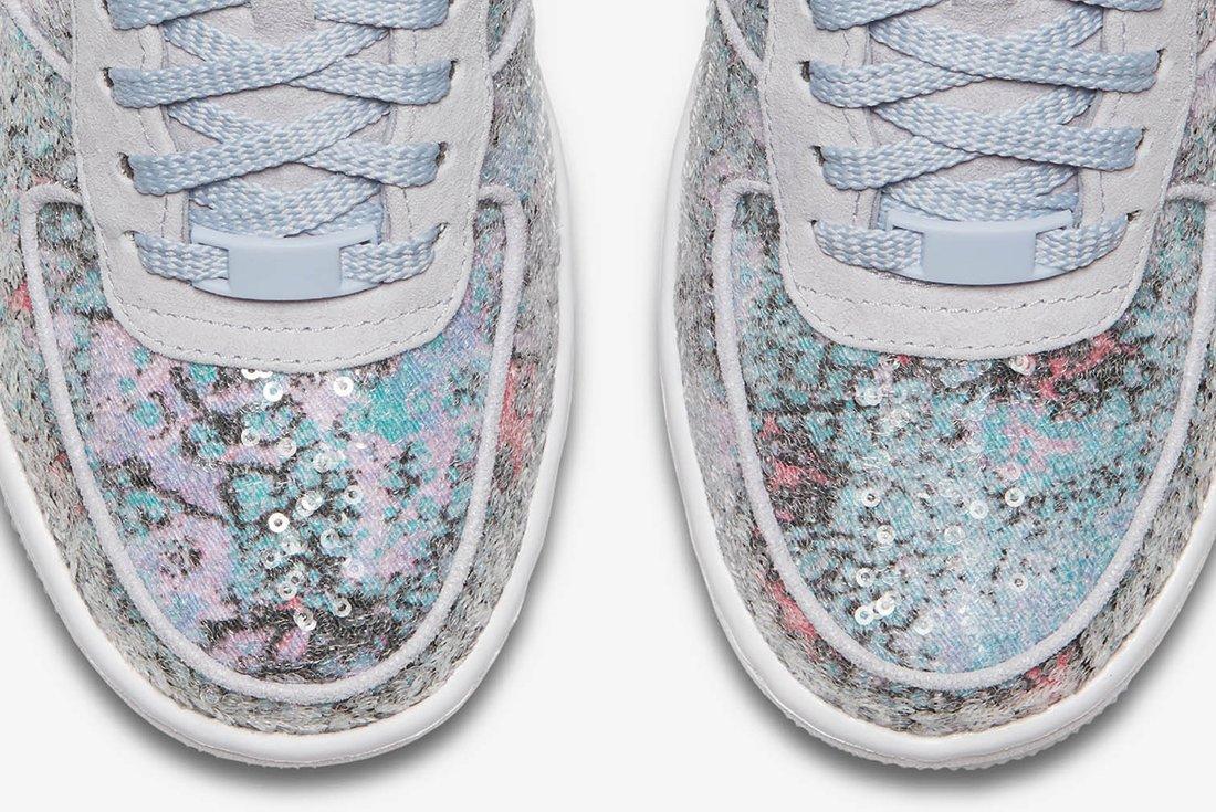 Nike Air Force 1 Upstep Low Glass Slipper 9