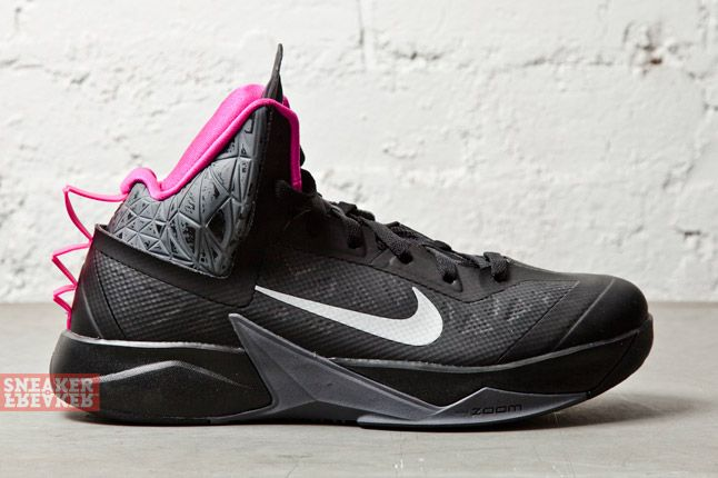 Nike Zoom Hyperfuse 2013 Xdr Black Metallic Silver Pink 1