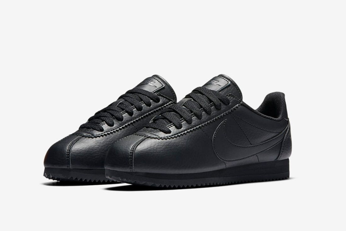 Nike Cortez Premium Womens Beautiful Powerful Black 4