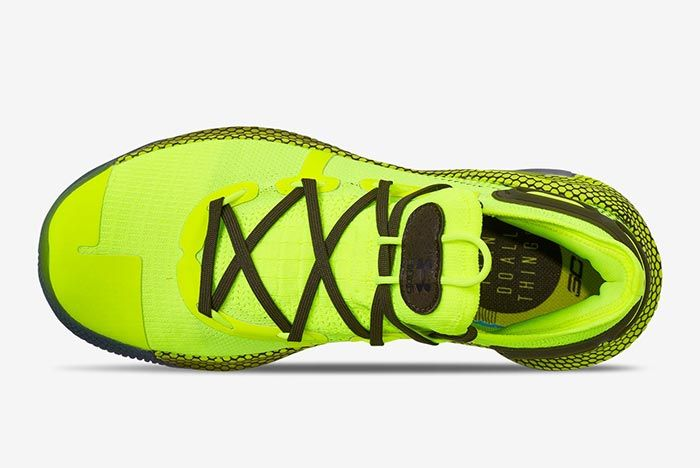 Hi Vis Yellow Under Armour Curry 6 Top