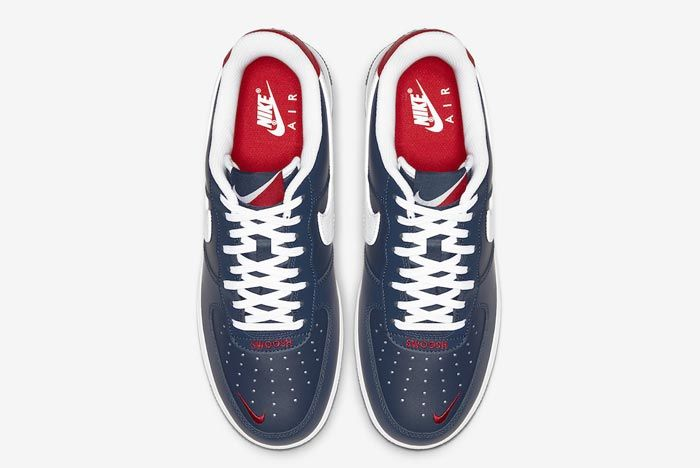 Nike Air Force 1 Blue White Red Top