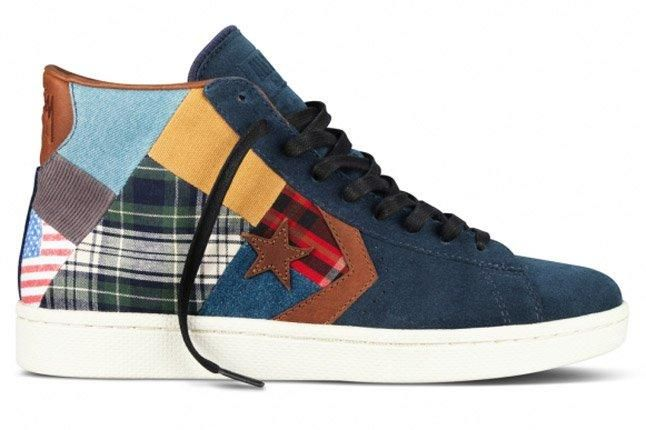 Stussy Nyc Converse 2012 First String Pro Leather Patchwork 1