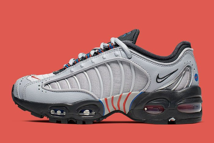 Nike Air Max Tailwind 4 Gs Grey Blue Orange Lateral Side