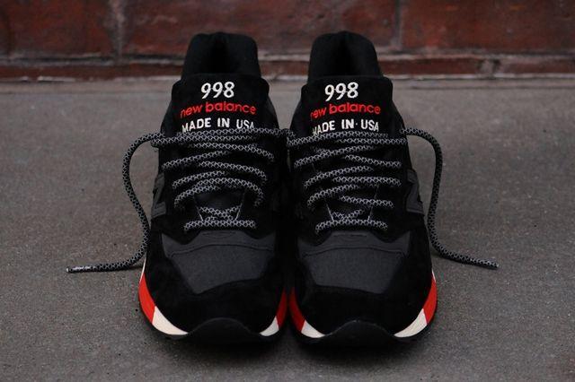 New Balance 998 Black Red 4