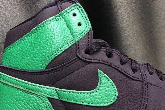 Air Jordan 1 Pine Green Leak Collar