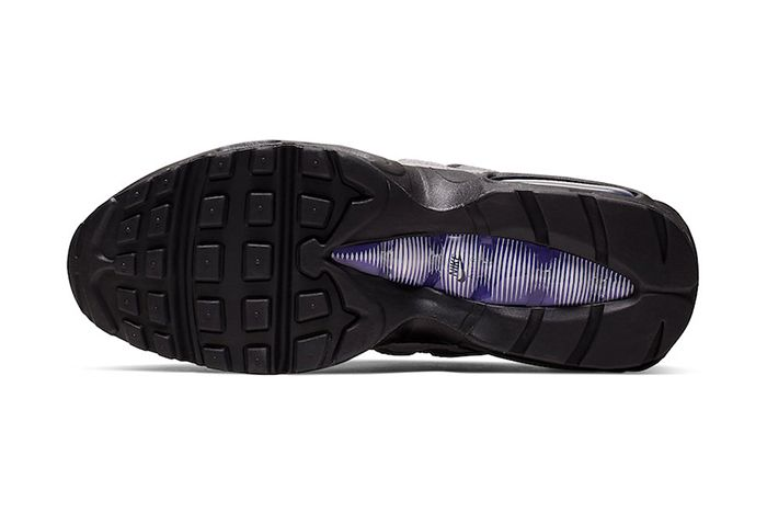 Nike Air Max 95 Black Grape Black Court Purple Teal Nebula Ao2450 002 Release Date Outsole