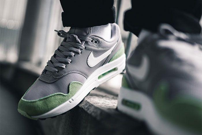 Nike Air Max 1 Fresh Mint Atmosphere Grey Ah8145 015 On Foot Side Shot 1