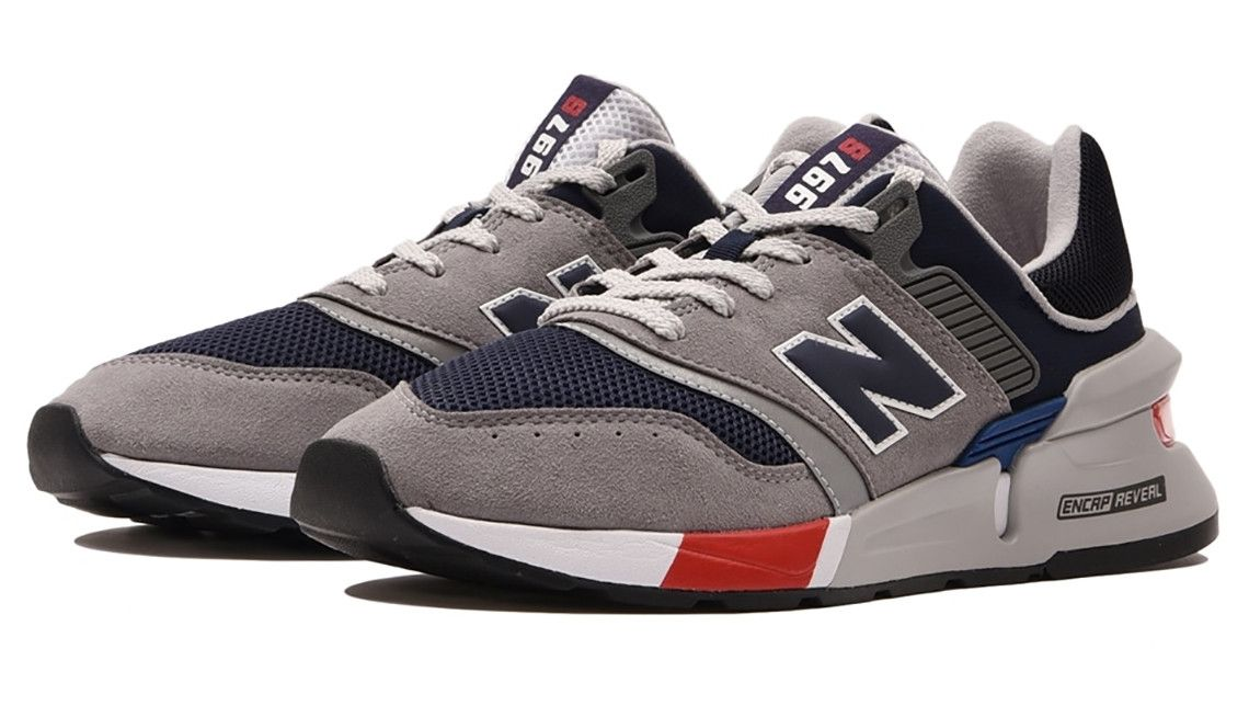 New Balance 997S Grey, Navy and Red