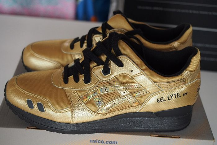 David Z Ronnie Fieg Asics Gel Lyte Iii Solid Gold