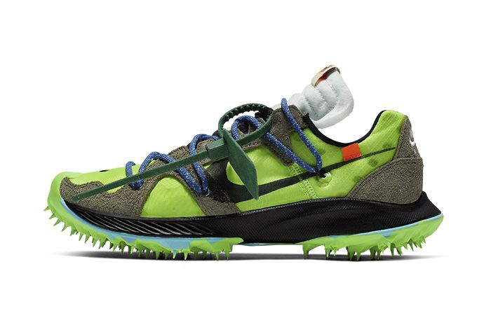 Off White Nike Zoom Terra Kiger 5 Green Cd8179 300 Release Date Lateral