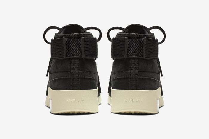 Nike Air Fear Of God Raid Black Fossil At8087 002 Release Date Heel