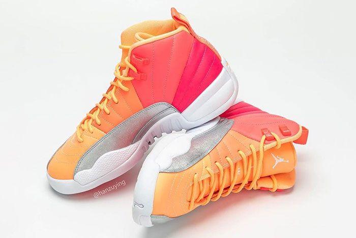 Air Jordan 12 Gs Hot Punch 510815 601 Release Date Pricing 3 Pair