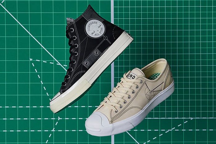 End Converse Blueprint Pack Chuck 70 Jack Purcell Black Natural Ivory Lateral Side Shot
